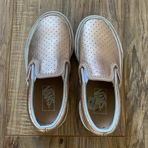 Vans Kids Rose Gold Girls Slip On